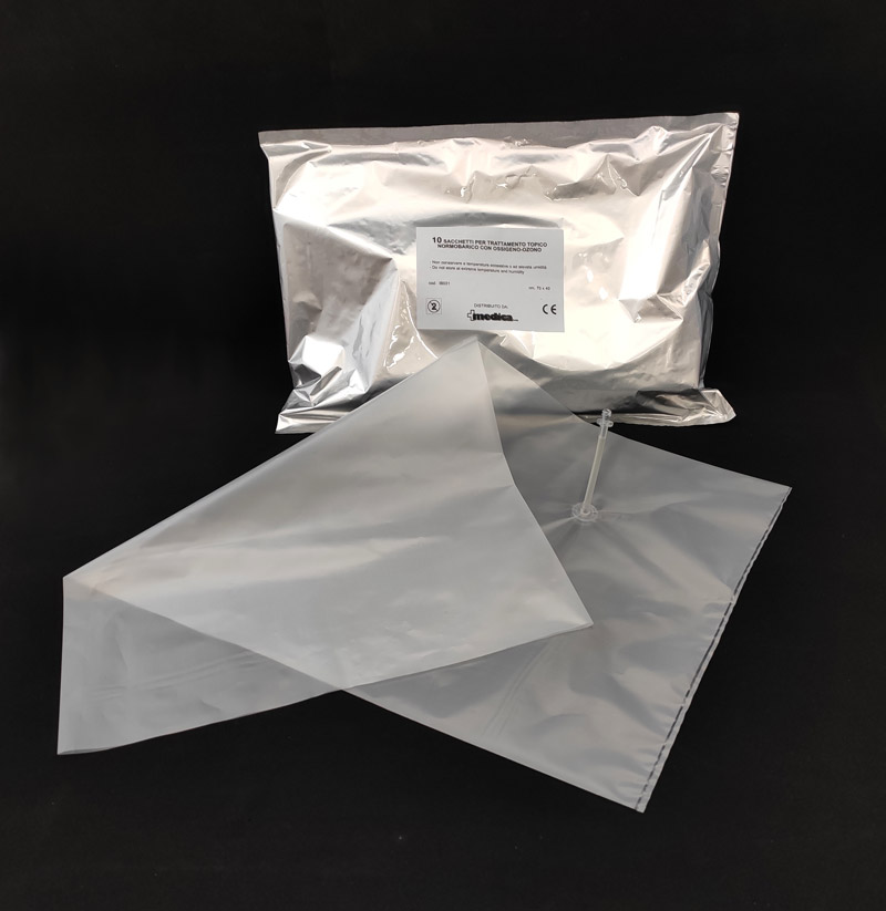 Sacchetti per Ozono Terapia Normobarica 40×70 cm dotati di innesto luer lock